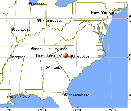 Mooresboro, North Carolina map