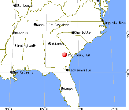 Cobbtown, Georgia map