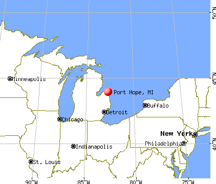 Port Hope, Michigan map