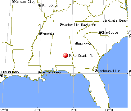 Pike Road, Alabama map