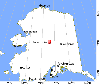 Tanana, Alaska map