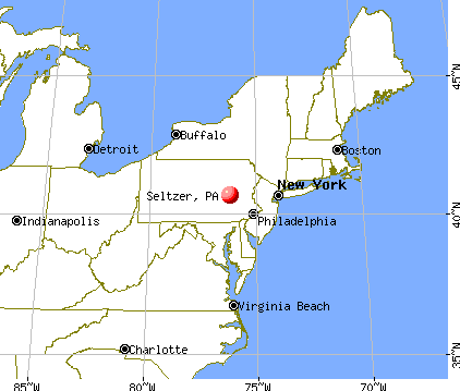 Seltzer, Pennsylvania map