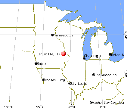 Earlville, Iowa map