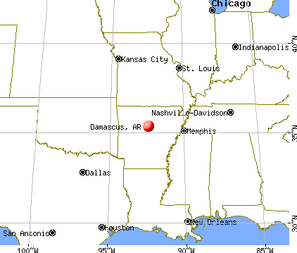 Damascus, Arkansas map