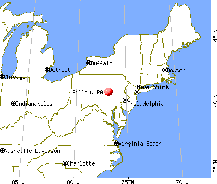 Pillow, Pennsylvania map