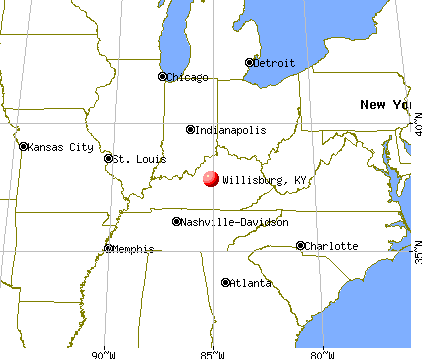 Willisburg, Kentucky map