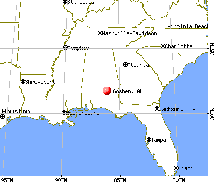 Goshen, Alabama map