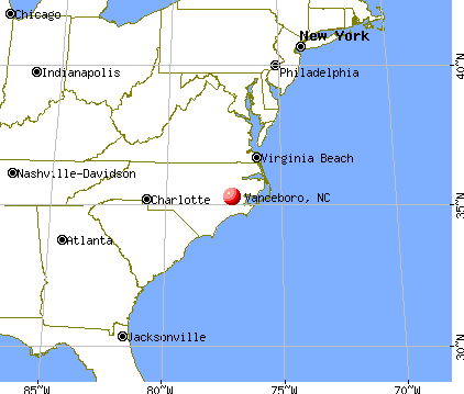 Vanceboro, North Carolina map