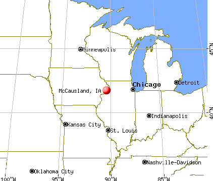 McCausland, Iowa map