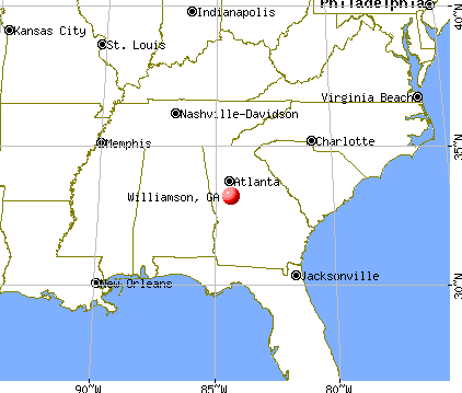 Williamson, Georgia map