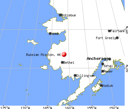 Russian Mission, Alaska map