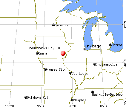 Crawfordsville, Iowa map