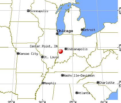 Center Point, Indiana map
