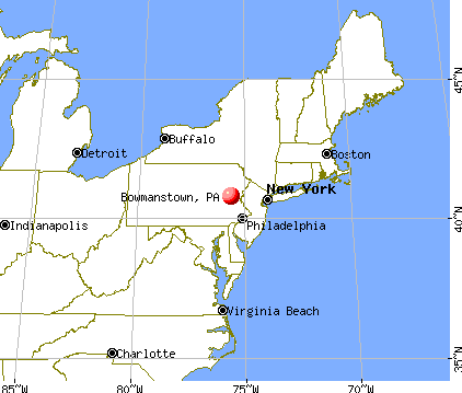 Bowmanstown, Pennsylvania map