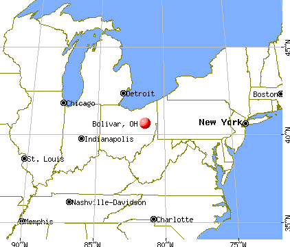 Bolivar, Ohio map