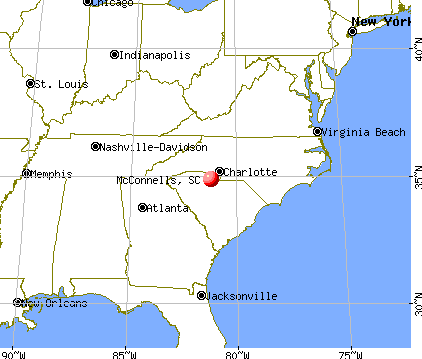 McConnells, South Carolina map