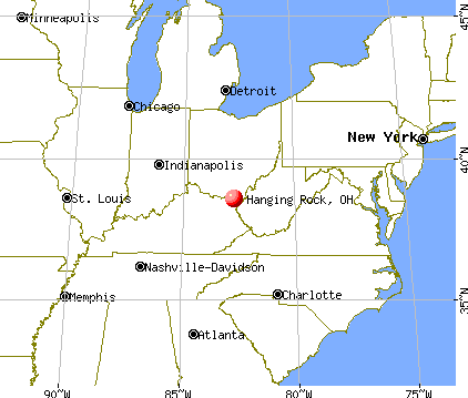 Hanging Rock, Ohio map