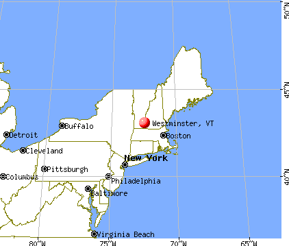 Westminster, Vermont map