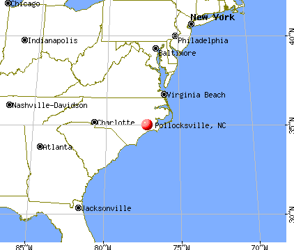 Pollocksville, North Carolina map