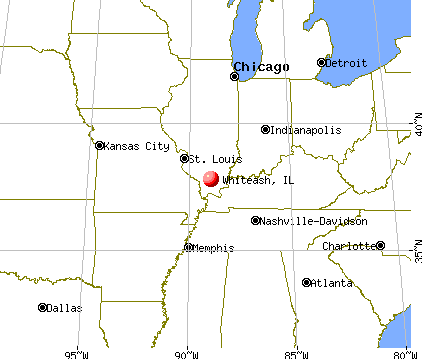 Whiteash, Illinois map