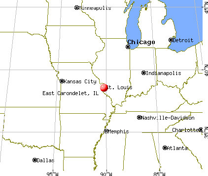 East Carondelet, Illinois map