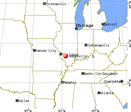 Addieville, Illinois map