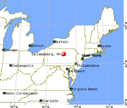 Salladasburg, Pennsylvania map