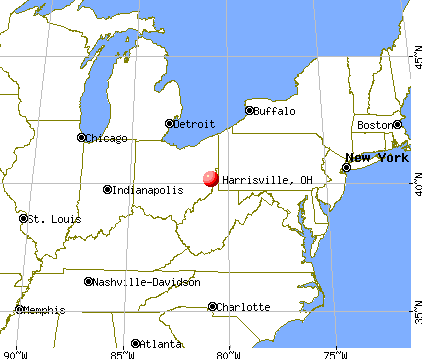 Harrisville, Ohio map