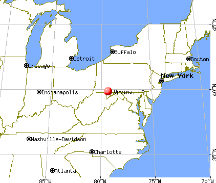 Ursina, Pennsylvania map