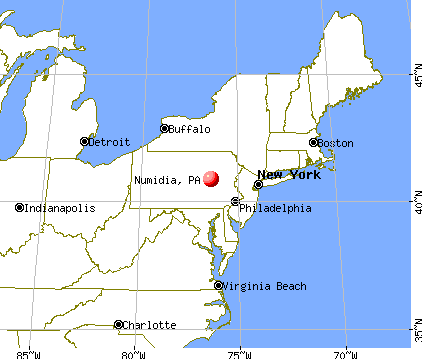 Numidia, Pennsylvania map