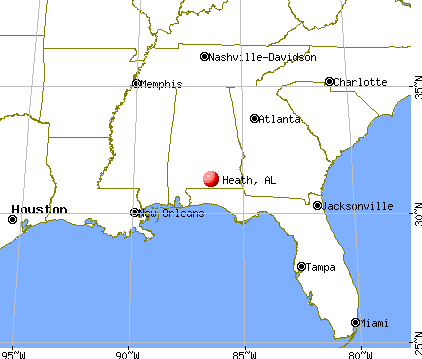 Heath, Alabama map