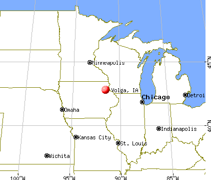 Volga, Iowa map