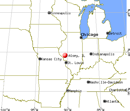 Alsey, Illinois map