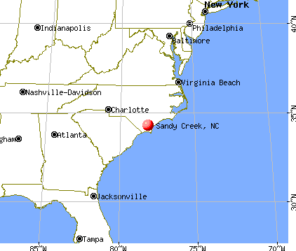 Sandy Creek, North Carolina map