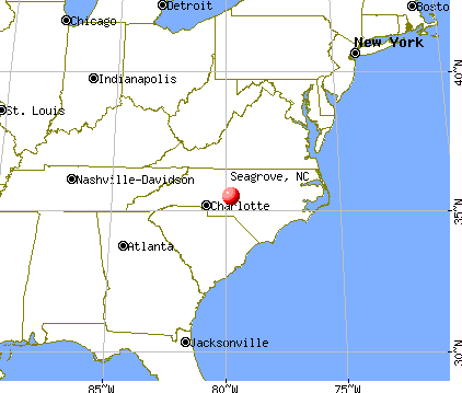 Seagrove, North Carolina map