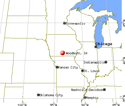 Woodburn, Iowa map