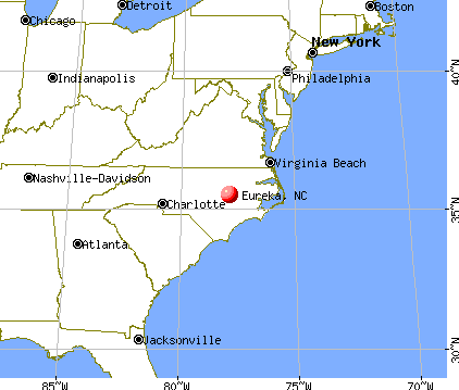 Eureka, North Carolina map