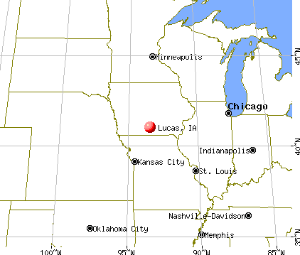Lucas, Iowa map