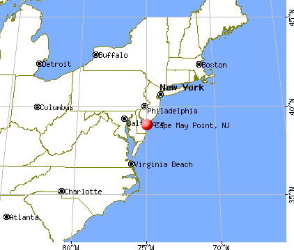 Cape May Point, New Jersey map