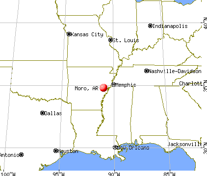 Moro, Arkansas map