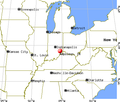 Napoleon, Indiana map