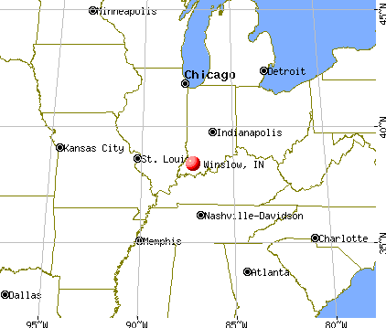 Winslow, Indiana map
