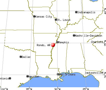 Rondo, Arkansas map