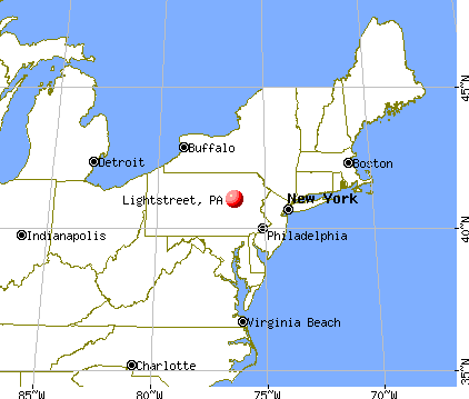 Lightstreet, Pennsylvania map