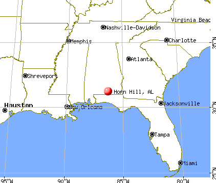 Horn Hill, Alabama map