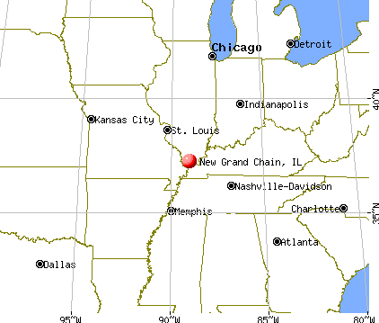 New Grand Chain, Illinois map