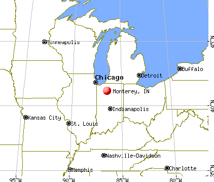 Monterey, Indiana map