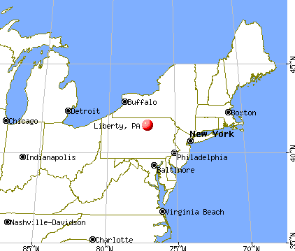Liberty, Pennsylvania map