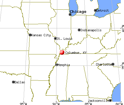 Columbus, Kentucky map