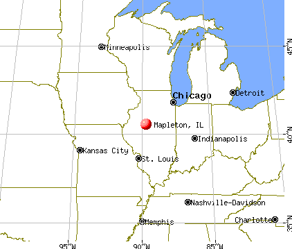 Mapleton, Illinois map